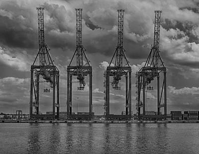 Photograph - Cranes At Elizabethport by Steven Richman