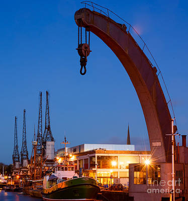 Photograph - Cranes, Bristol Harbour by Colin Rayner
