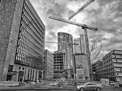 Photograph - Cranes Over Frankfurt Am Main by Paul Mc Namara