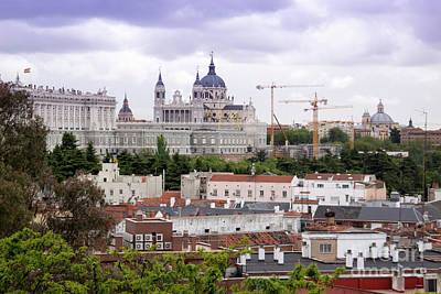 Photograph - Cranes Over Madrid by Ana Mireles