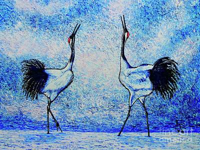 Painting - Cranes by Viktor Lazarev