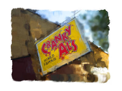 Digital Art - Cranky Al's by Geoff Strehlow