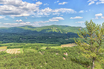 Photograph - Cranmore Mountain Resort From Cathedral Ledge  by Brian MacLean