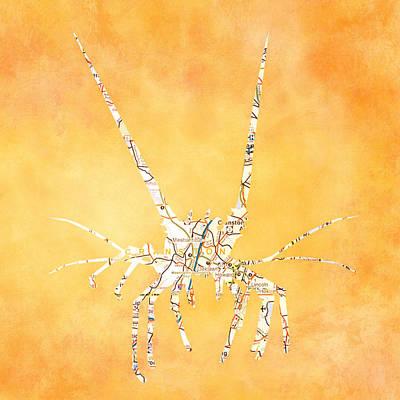 Spiny Digital Art - Cranston Spiny Lobster by Brandi Fitzgerald
