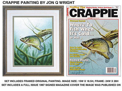 Tackle Painting - Crappie And Minnows by Jon Q Wright