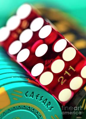Photograph - Craps At Caesars Casino by John Rizzuto