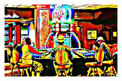 Photograph - Craps At El Cortez Casino, Las Vegas- Pop Art by Tatiana Travelways