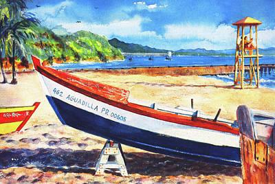 Aguadilla Painting - Crash Boat Beach by Estela Robles