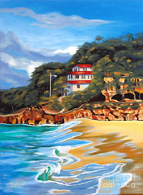 Painting - Crash Boat Beach by Milagros Palmieri
