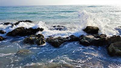 Ocean Photograph - Crash by Ric Schafer