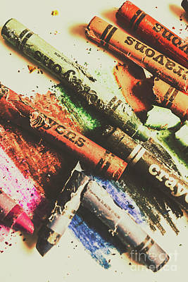 Old Objects Photograph - Crash Test Crayons by Jorgo Photography - Wall Art Gallery