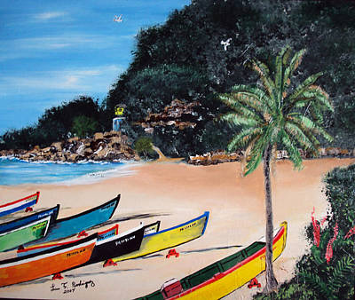 Crashboat Beach I Art Print by Luis F Rodriguez