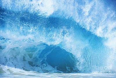 Crashing Blue Wave Art Print by Vince Cavataio - Printscapes