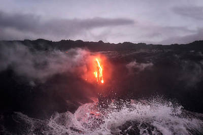 Photograph - Crashing Lava by Nicki Frates