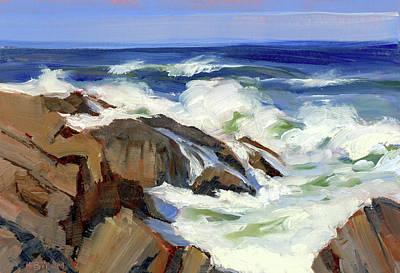 Painting - Crashing Surf by Mary Byrom