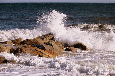 Eunice Miller Photograph - Crashing Surf On Plum Island by Eunice Miller