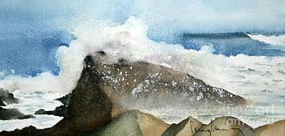 Painting - Crashing Surf by Penny Stroening