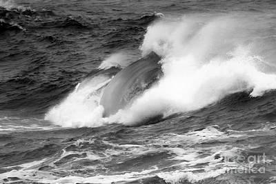 Photograph - Crashing Swells Black And White by Adam Jewell