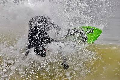 Photograph - Crashing The Surf - Skimboarding At The Indian River Inlet by Kim Bemis