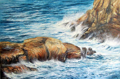 Painting - Crashing To The Shore by Valerie Travers