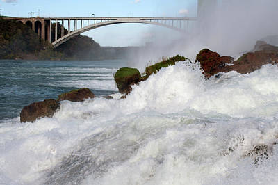 Photograph - Crashing Water At Base Of Niagara Falls by Michelle McPhillips