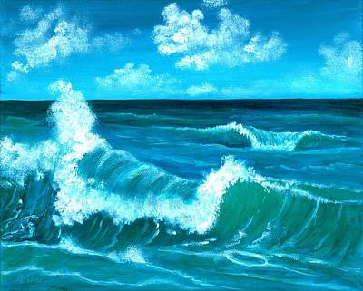 Painting - Crashing Wave by Anastasiya Malakhova