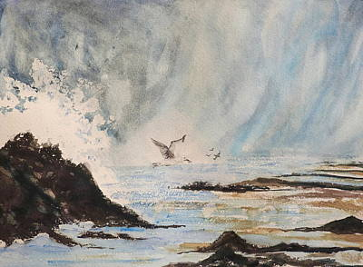 Painting - Crashing Wave by Betty-Anne McDonald
