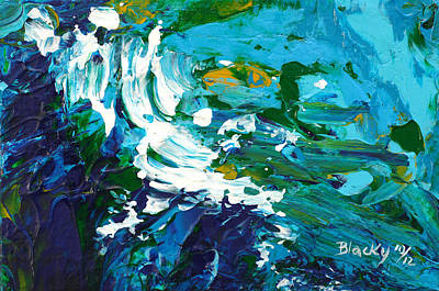 Painting - Crashing Wave by Donna Blackhall