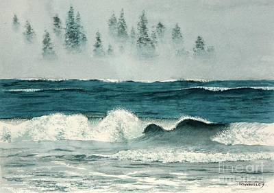 Painting - Crashing Wave by Frank Townsley