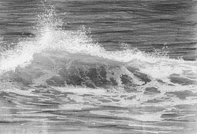 Drawing - Crashing Wave by Nolan Clark