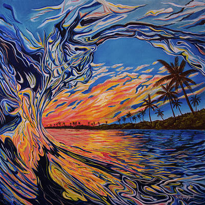 Crashing Wave Painting - Crashing Wave Painting - Hesperides Blessing by Christopher Smart