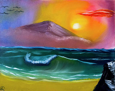 Bob Ross Painting - Crashing Wave by Robyn Paul