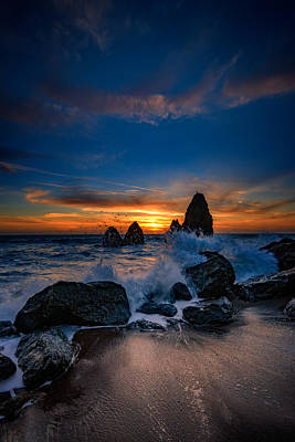 Photograph - Crashing Waves At Rodeo Beach by Rick Berk