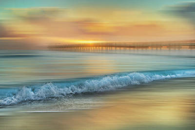 Photograph - Crashing Waves At Sunrise Dreamscape by Debra and Dave Vanderlaan