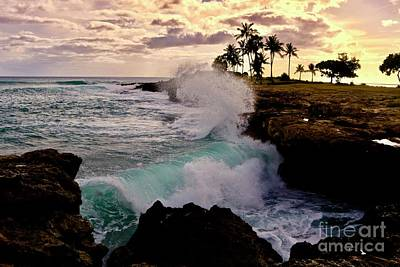 Photograph - Crashing Waves At Sunset by Craig Wood