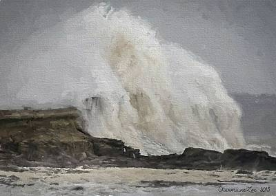 Digital Art - Crashing Waves by Charmaine Zoe