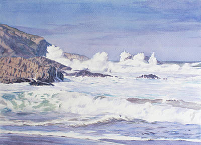Painting - Crashing Waves by Christopher Reid