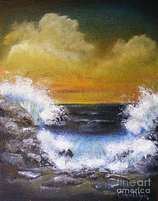 Painting - Crashing Waves by Crispin  Delgado