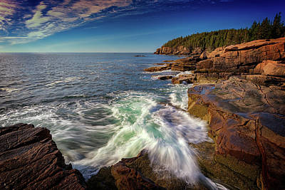 Photograph - Crashing Waves In Acadia National Park by Rick Berk
