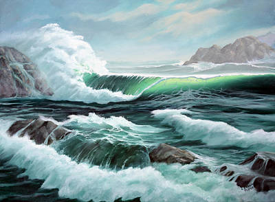 Painting - Crashing Waves by Lorraine Foster