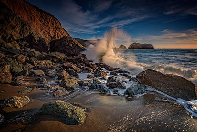 Crashing Waves On Rodeo Beach Art Print