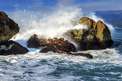 Photograph - Crashing Waves On The Lost Coast by James Eddy