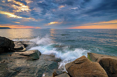 Photograph - Crashing Waves On The Ocean Trail by Rick Berk