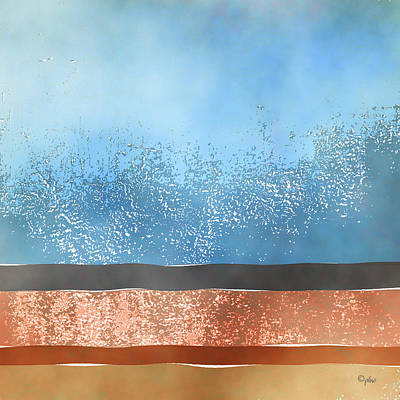 Digital Art - Crashing Waves by Paulette B Wright