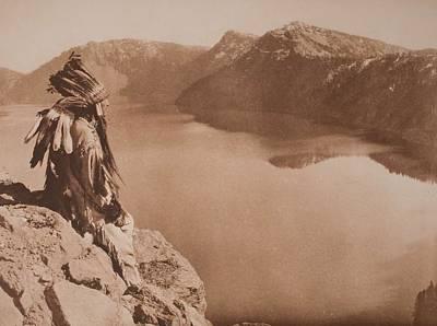 Crater Lake , Native American 1923 By Edward Sheriff Curtis, 1868 - 1952 Art Print