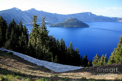 Photograph - Crater Lake 12 by Carol Groenen