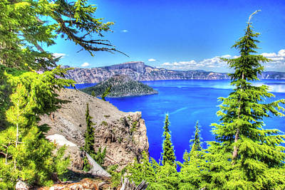 Photograph - Crater Lake 2 by Richard J Cassato
