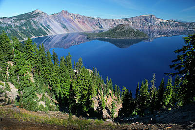 Photograph - Crater Lake 3 by Frank Wilson