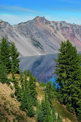 Photograph - Crater Lake 6 by Frank Wilson
