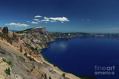 Photograph - Crater Lake A Caldera Lake  by Christiane Schulze Art And Photography
